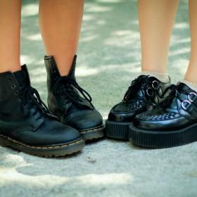 Zapatos con cordones de mujer