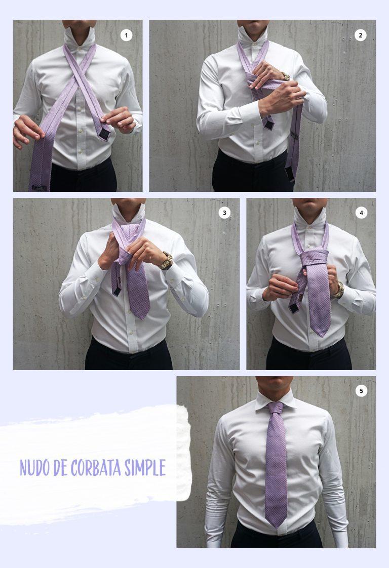 Nudo simple de corbata
