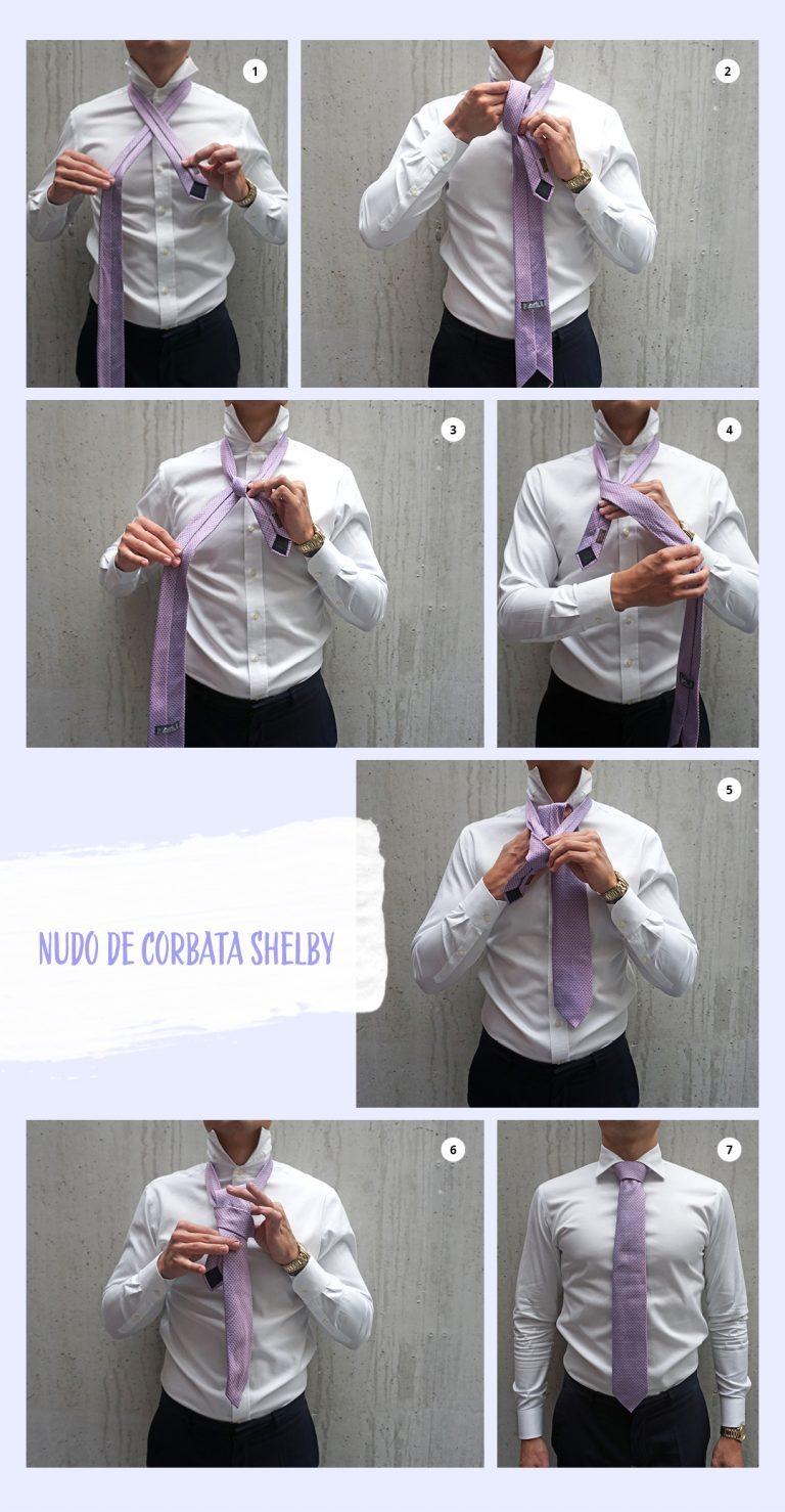 Nudo de corbata shelby o Pratt