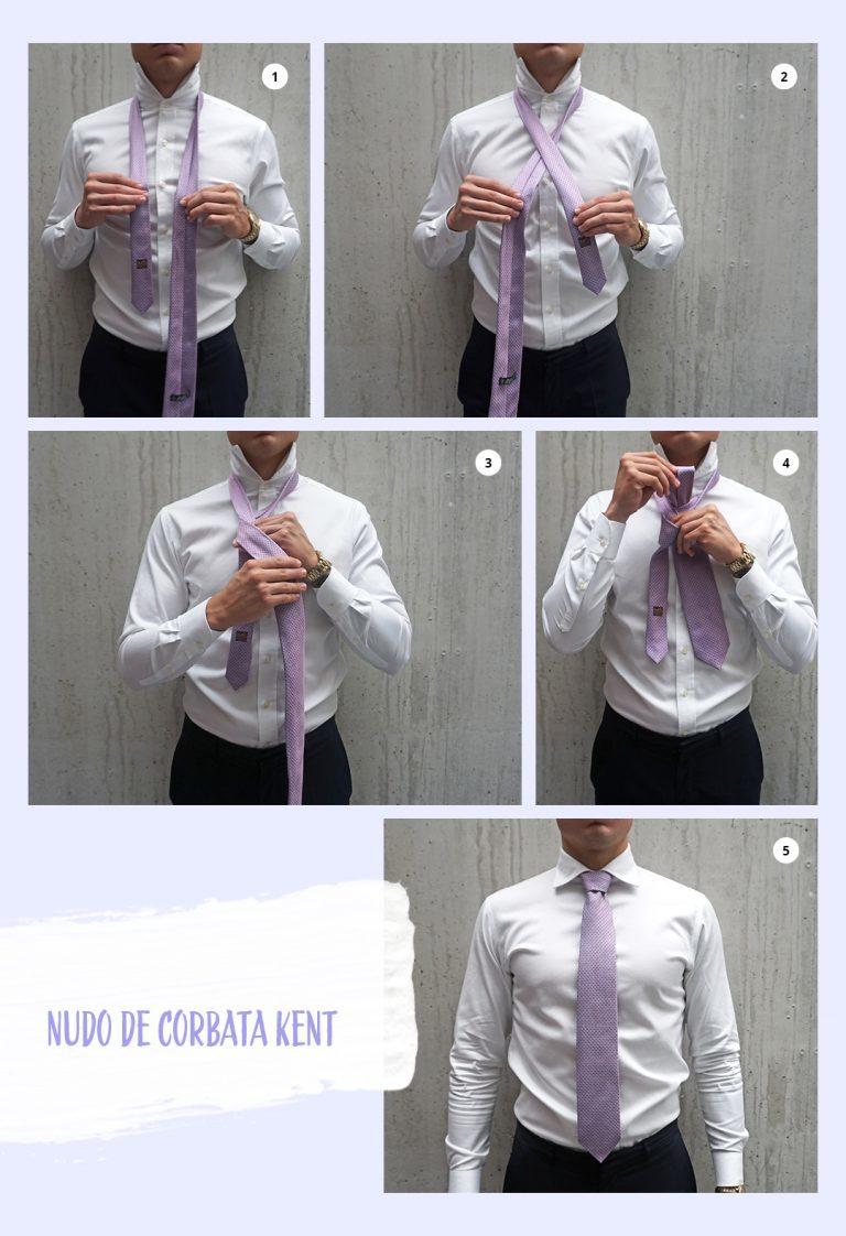 Nudo de corbata Kent o nudo pequeño