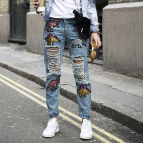 El estilo denim bordado