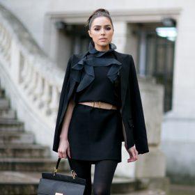 3 outfits y una minifalda negra