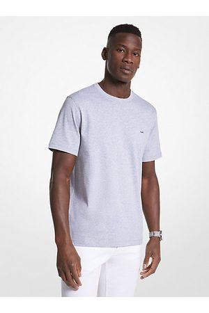Camiseta De Cuello Redondo En Algodón