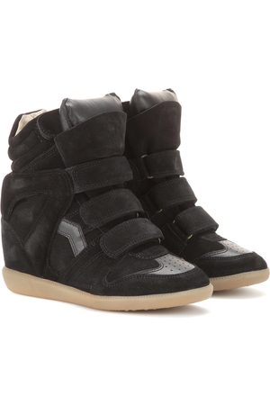 Isabel Marant Étoile Bekett leather and suede wedge sneakers