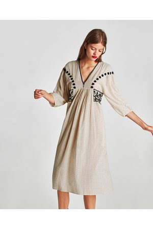 7a9e3fb22f4 Vestidos Midi de mujer Zara online. ¡Compara y compra!