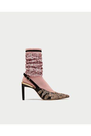84d70b489c01f Tacones de mujer Zara calcetin ¡Compara 3 productos y compra ahora ...