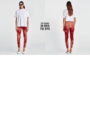 Zara JEANS THE SKINNY IN RED