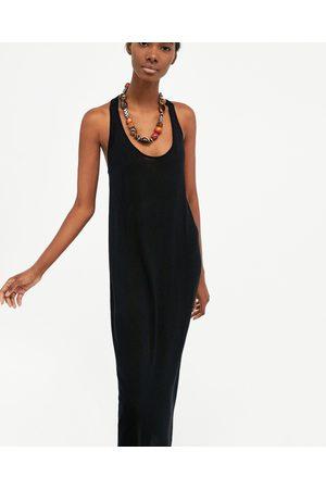 Vestido Punto Zara – Tirantes De 2019 Negro Vestidos qzMVpSU