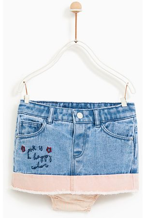 Zara FALDA DENIM BORDADOS