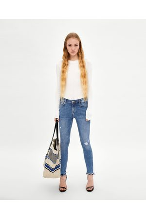 "Zara JEGGING LOW RISE ""CURVES"" ROTOS"