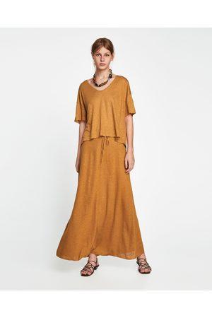 falda larga zara | 101 vestidos