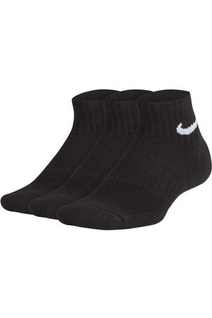 Nike Niño Calcetines - Performance Cushioned Quarter Calcetines de entrenamiento (3 pares)