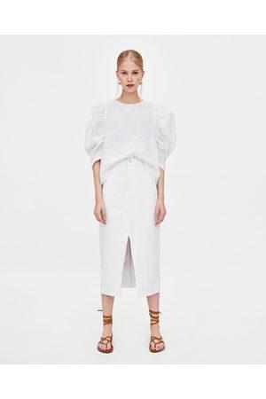 Faldas Vaqueras de mujer Zara vaquera midi ¡Compara 7 productos y ... 3c391e2f6061