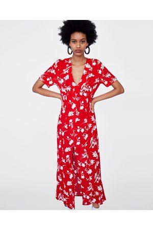 Vestido Zara Vestido Largo Floral Estampado Zara Vestido Zara Largo Estampado Largo Floral Estampado 6FBO6q4
