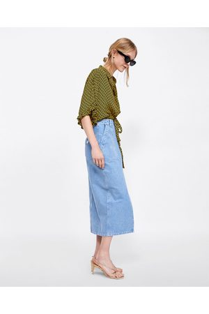 Zara FALDA DENIM VENICE BLUE