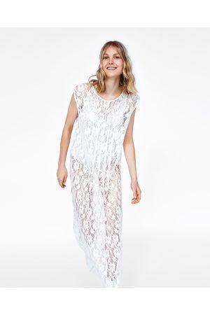 Vestido blanco largo zara 2018