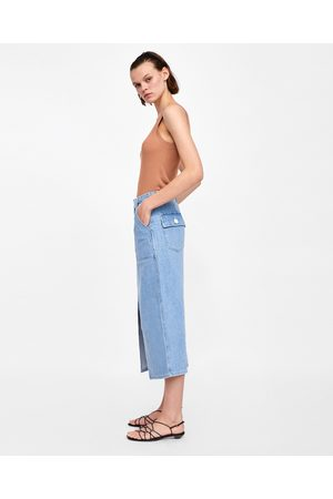 Zara FALDA DENIM MALIBU BLUE