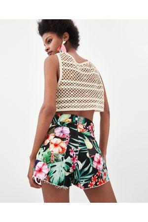 Zara SHORT PRINT FLORAL HIGH RISE