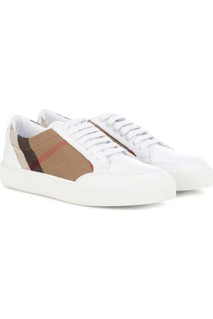 Burberry Zapatillas deportivas - Zapatillas de piel y tela Salmond