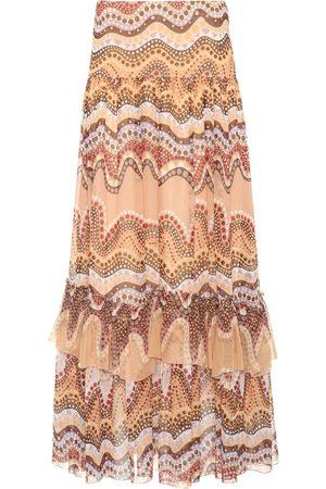 Chloé Exclusiva en mytheresa.com: falda estampada de seda y crespón
