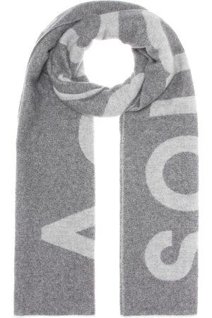 Acne Bufanda en mezcla de lana Toronty Logo