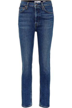 RE/DONE Jeans de tiro High Rise Ankle Crop