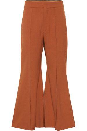 Chloé Pantalones flared de lana