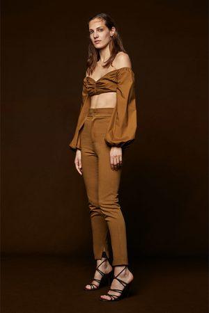 Pantalones De Talle Alto De Mujer Zara Pantalones Pitillo Fashiola Es
