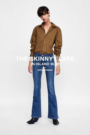 Zara JEANS SKINNY FLARE STILLA ISLAND BLUE