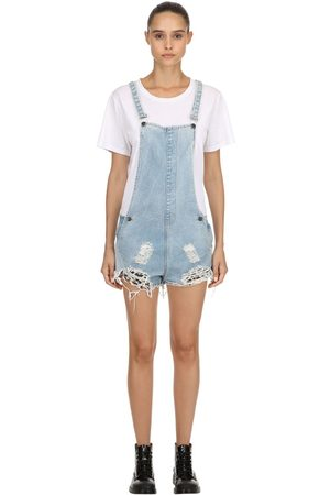The People Vs Joan Repatched Destroyed Short Overalls