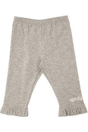 Fendi Pantalones Deportivos De Jersey De Algodón