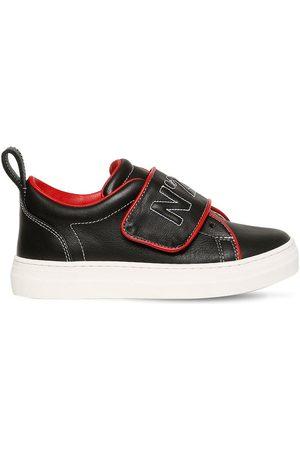 Nº21 Sneakers De Piel Bordadas