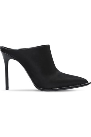 "Alexander Wang | Mujer Zapatos Mules ""crystal"" De Satén 105mm 37.5"