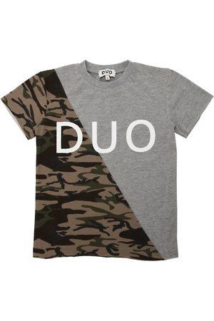 DUO Camiseta De Jersey De Algodón Estampada