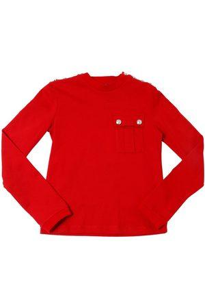 Balmain | Niña Camiseta De Manga Larga De Jersey De Algodón 14a