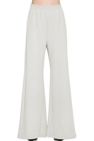 MM6 MAISON MARGIELA | Mujer Pantalones Acampanados De Jersey Acanalado Xs