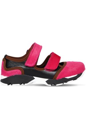 Marni | Mujer Sneakers De Piel De Potro Y Piel 20mm /negro 40
