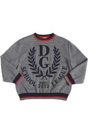 Dolce & Gabbana | Niño Suéter De Punto De Lana Con Logo 10a