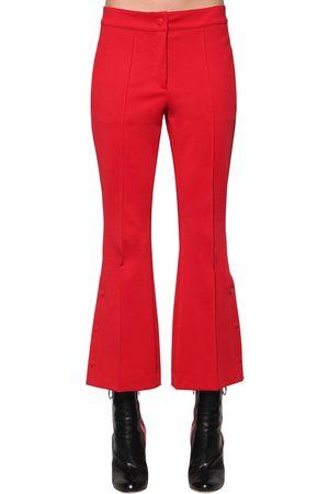 MARCO DE VINCENZO | Mujer Pantalones Cropped Acampanados De Jersey Techo /rosa 38