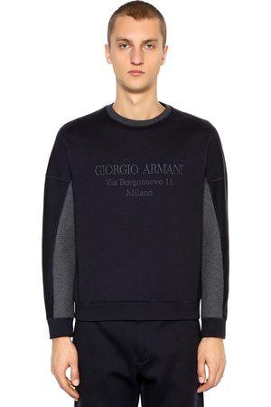 Armani | Hombre Sudadera De Algodón Con Logo Bordado /gris 48
