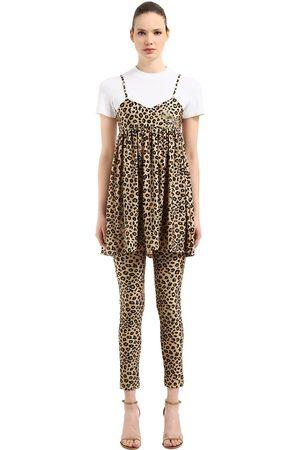 VIVETTA   Mujer Vestido De Estampado Y T-shirt /leopardo 38