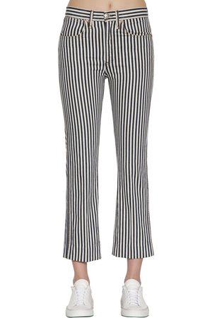 RAG&BONE | Mujer Jeans De Denim Stretch A Rayas /azul 26