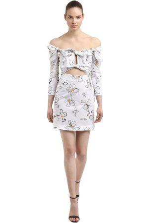 ISA ARFEN | Mujer Vestido Mini De Algodón Con Estampado Floral 6