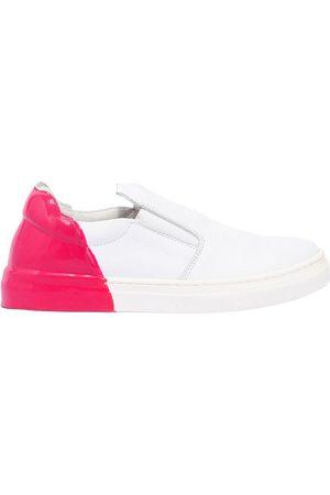 AM 66   Niña Sneakers Slip-on De Piel Bicolor /fucsia 33