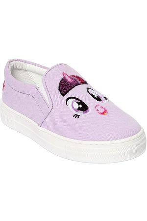 "JOSHUA SANDERS Sneakers Slip-on ""unicorn"" De Lona Con Parche"