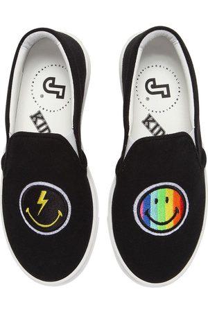 JOSHUA SANDERS Sneakers Slip-on De Lona Con Smile Y Arcoiris