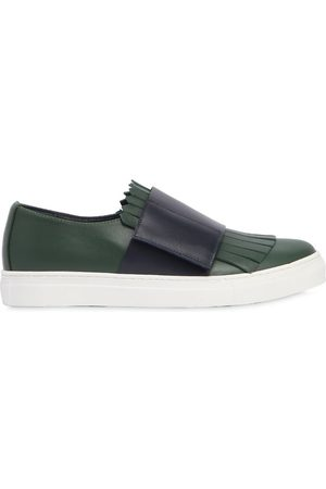 Marni | Niña Sneakers De Piel Con Flecos 30