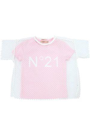Nº21   Niña Camiseta De Jersey De Algodón Y Top De Malla 6a