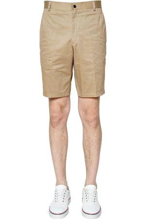Thom Browne | Hombre Pantalones Cortos Chinos De Satga De Algodón 0