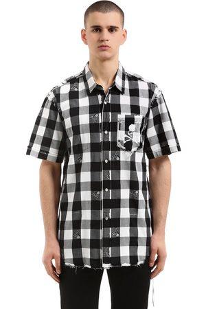 MASTERMIND | Hombre Camisa De Manga Corta De Franela A Cuadros /blanco S